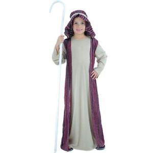 Kids Shepherd Costume Nativity Christmas Fancy Dress Outfit