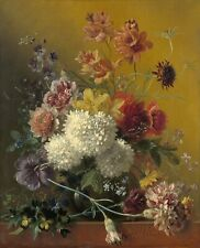"Georgius van Os : ""Still Life with Flowers"" (1820-1861) — Giclee Fine Art Print"