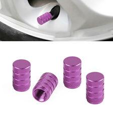 4x Purple Car Wheel Tire Caps Aluminum Airtight Air Valve Stems Cap Accessories