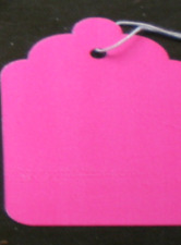 "1000 Size 8 Price Tags with String - Fluorescent Pink -  1-11/16"" x 2-3/4"""
