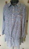 TUNIC TOP BLOUSE 22 48 XL PLUS COTTON FLORAL LOOSE RELAXED BOXY HIPPY QUIRKY
