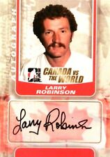 11-12 itg game canada vs world larry robinson team autograph auto