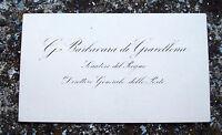 1875 160) MANOSCRITTO DEL SENATORE GIOVANNI BARBAVARA DI GRAVELLONA POSTE REGNO