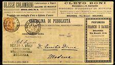Regno Francalettere Perfin Cartolina di Pubblicità