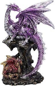 Dragon and Dragonling Ornament Parental Hatchling Protection Figurine 15.2cm