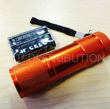 Torch 9 LED Metal in Orange for Police,PCSO,Security, Ambulance, Paramedic