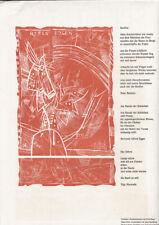 ALAN SUNDBERG - RAINBOW * lino cut from 1978 * FRED BAUER - RAINBOW wood cut