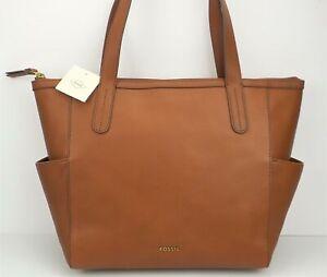 FOSSIL MIMI SHOPPER Ladies Medium Brown Leather Handbag SHB1713210 $198 NEW
