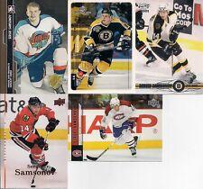 BOSTON BRUINS Sergei Samsonov 5 Card Lot H&P Pacific MVP ++