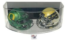 Curved ACRYLIC WALL MOUNT FOOTBALL Double Mini Helmet DISPLAY CASE GameDay