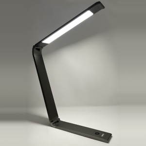 LED Folding Desk Lamp, Rechargeable, Brightness and Color Temp Control, Aluminum