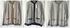 NEW LADIES COTTON ACRYLIC BLEND MOHAIR LOOK FLUFFY KNIT CARDIGAN WITH POCKETS