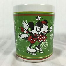 Zak! Disney Mickey and Minnie Mouse Christmas Caroling Together Coffee Mug Cup