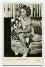 1930s Child Movie Film Star SHIRLEY TEMPLE w/ Doll French vintage photo postcard