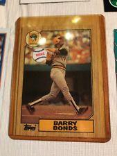 1987 Topps Barry Bonds #320 Error Baseball Card Plus 5 Other Barry Bonds Cards