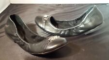* NEED $ SALE * Lauren Ralph Betsy BLACK Crinkle Patent Leather Ballet Flats 8 B