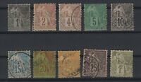 G139431/ FRENCH COLONIES – MAURY # 46 / 54 - 59 USED – CV 150 $