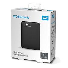 WD - Elements 1TB USB 3.0/2.0 External Portable Hard Drive Black, NEW