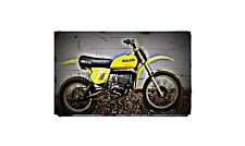 1977 rm370 Bike Motorcycle A4 Photo Poster