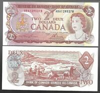 Canada Two Dollar $2 (1974) - UNC BANK NOTES - LAWSON / BOUEY