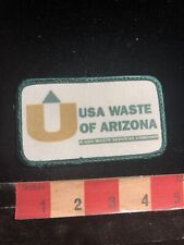 Vintage Circa 1980s Waste Management USA WASTE OF ARIZONA Advertising Patch 98C2