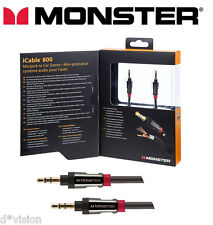 Monster ® i800 Cable Auxiliar 3.5 mm Coche Aux Audio De Alta Calidad 7 ft (approx. 2.13 m)/2 M