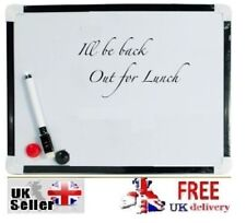 A4 Magnetic Dry Wipe WHITE BOARD Pen Whiteboard Memo Notice With ERASER Attached