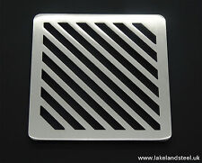 100mm 10cm Square Stainless steel metal heavy duty drain cover gully grid grate