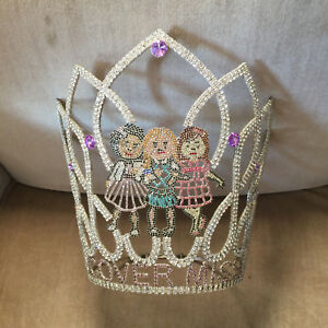 """Vintage Child Beauty Pageant Crown Tiara """"Cover Miss"""" Pageant"""