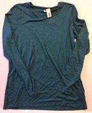 PRINCESS TAM TAM S Turquoise Long Sleeve Top Shirt Sleep New Latte 252