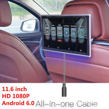 "11.6"" HD Android 6.0 Car Headrest Rear Seat Monitor WIFI 3G/4G FM Video Player"