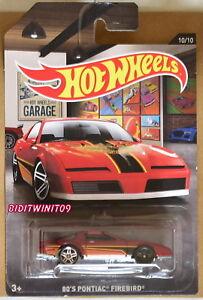 HOT WHEELS 2016 GARAGE 80'S PONTIAC FIREBIRD ERROR W+