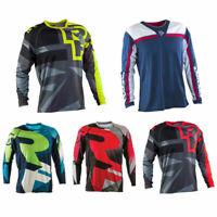 Mens Cycling Jersey Riding Bike T-Shirt Long Sleeve Motorcycle /MX/ATV/BMX DirtM