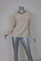 Soft Joie Sweater Balenne Oatmeal Cotton-Blend Chunky Knit Pullover Size Small