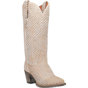 Dan Post Ladies Nix Snake Skin White Snip Toe Boots DP4313