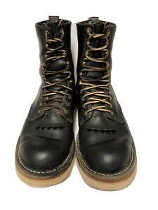 WHITE'S BOOTSSMOKE JUMPER Men 9 E All Leather Wildfire Firemen Boots Black EUC!