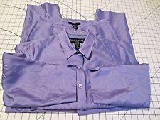 SILKLAND Womens Petite Lavender- Purple Pants Plus Top SET  Sizes 12P  &  14P
