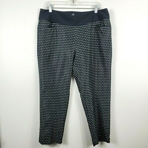 Adidas Ultimate 365 Pull On Printed Cropped Golf Pants Black Womens XL FJ4875