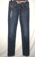MEK Denim Womens Oaxaca Cigarette Skinny Jeans Size 27x34 Dark Wash Distressed