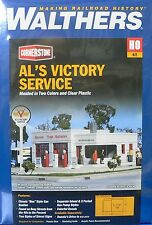 HO Scale Model Railroad Trains Layout Al's Victory Service Building Kit Walthers