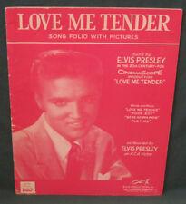 Elvis Presley RCA Love Me Tender Song Book Folio & Pictures Hill Range