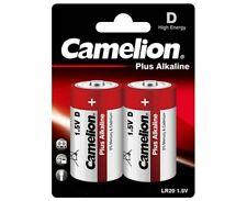 Lot de 12 piles Alcalines blister 1,5V LR20 D Haute capacité 21000mah Camelion