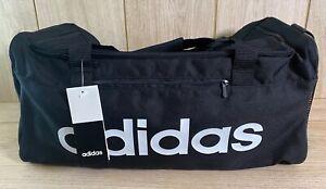 NEW Adidas Linear Core Duffel Training Bag Black SMALL Gym Football Travel