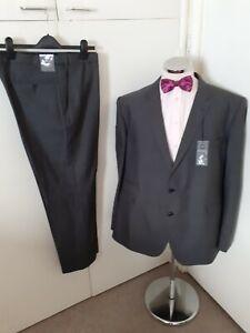 """NEW M&S Men's Grey 2PC Suit Chest 52"""" Long Waist 40"""" Leg 31"""" W/Blend rrp £149"""