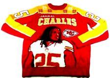 NFL Team Apparel Mens Sweater Sweatshirt Jamaal Charles #25  KC Chiefs Size L