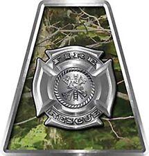 Firefighter Fire Helmet Tetrahedrons Set of 8 Camouflage Maltese Cross FF020