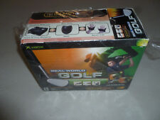 NEW IN BOX REAL WORLD GOLF XBOX BOXED SET GAME CONTROLLER GLOVES CLUB PEDALS NIB