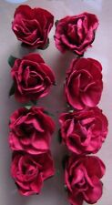 Adhesive Red Paper Roses Flowers Card Making Scrapbooking Embellishment NEW