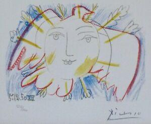 PABLO PICASSO Visage de la Paix 50 XIX HAND NUMBERED 1252/2000 signed LITHOGRAPH