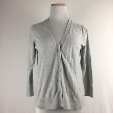 Gap Women's Gray Longsleeve V-Neck Button Front Cardigan Sweater Size Medium